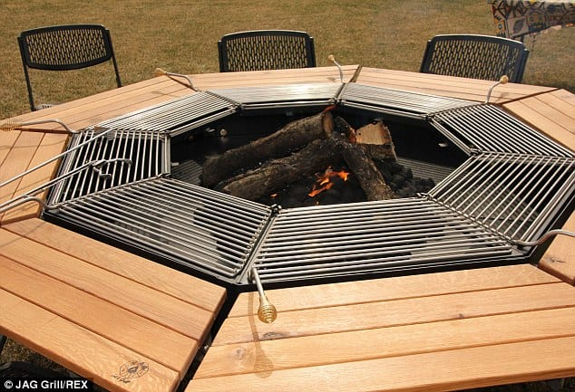 This Barbecue Picnic Table Will Forever Change How You BBQ - Picnic table with grill built in