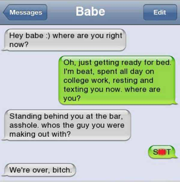 funny break up text fails