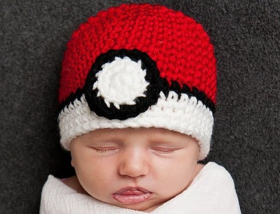 The Ultimate Crochet Pokemon Ball Beanie Hat Adult Baby Pattern