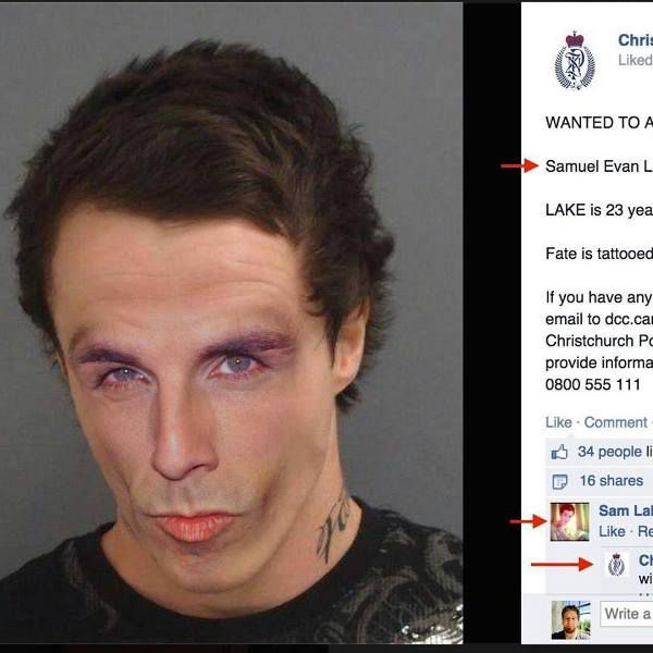 Wanted' Man Taunts Police On Facebook