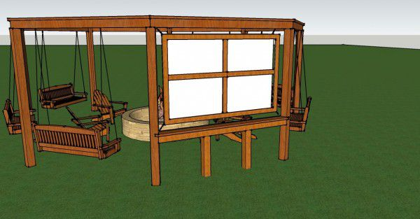 How To Build An Outdoor Pergola, Firepit And Swings