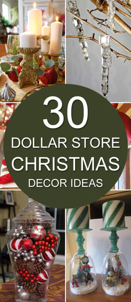 On A Budget? 30 Dollar Store Christmas Decor Ideas • AwesomeJelly.com