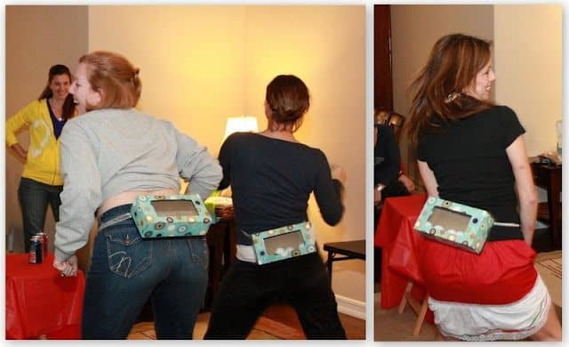 if you enjoyed our article about the saran wrap ball christmas party game you are totally going to love this idea