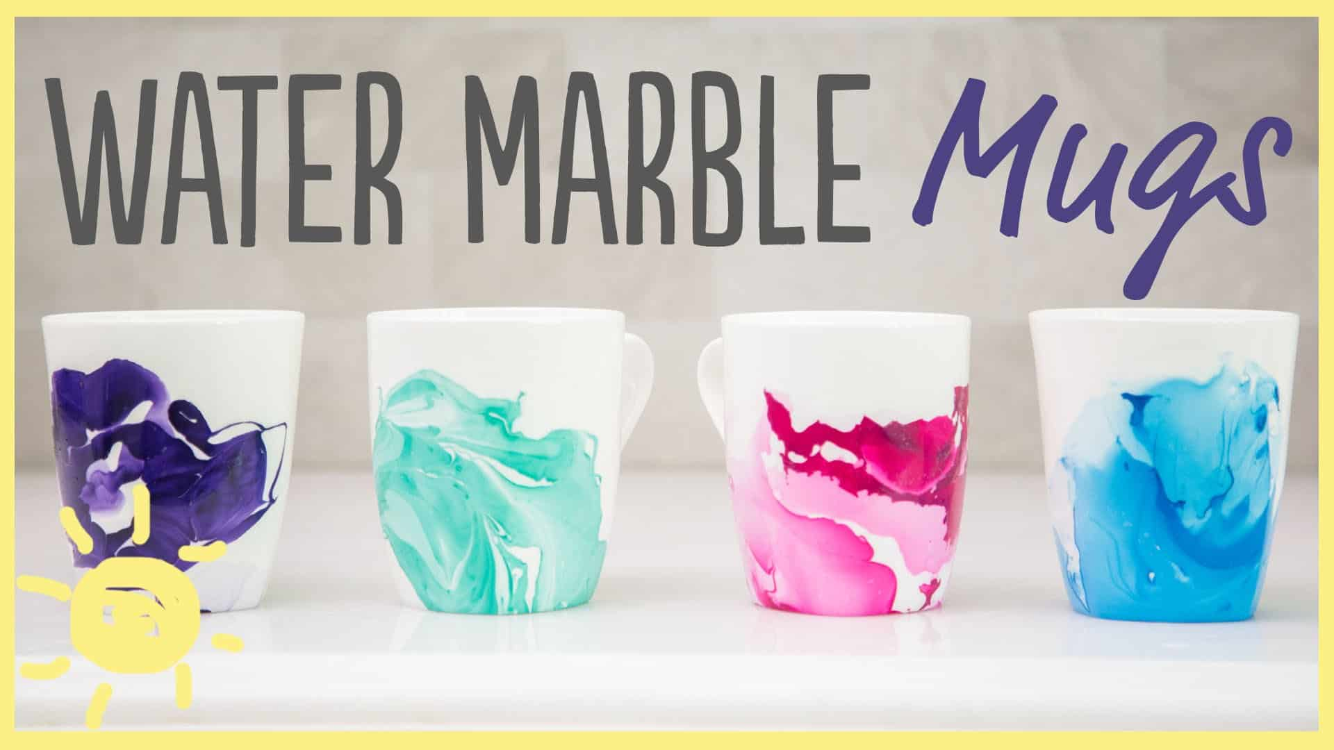 Make These Funky Diy Water Marble Mugs Using Just Two Ingredients Awesomejelly Com