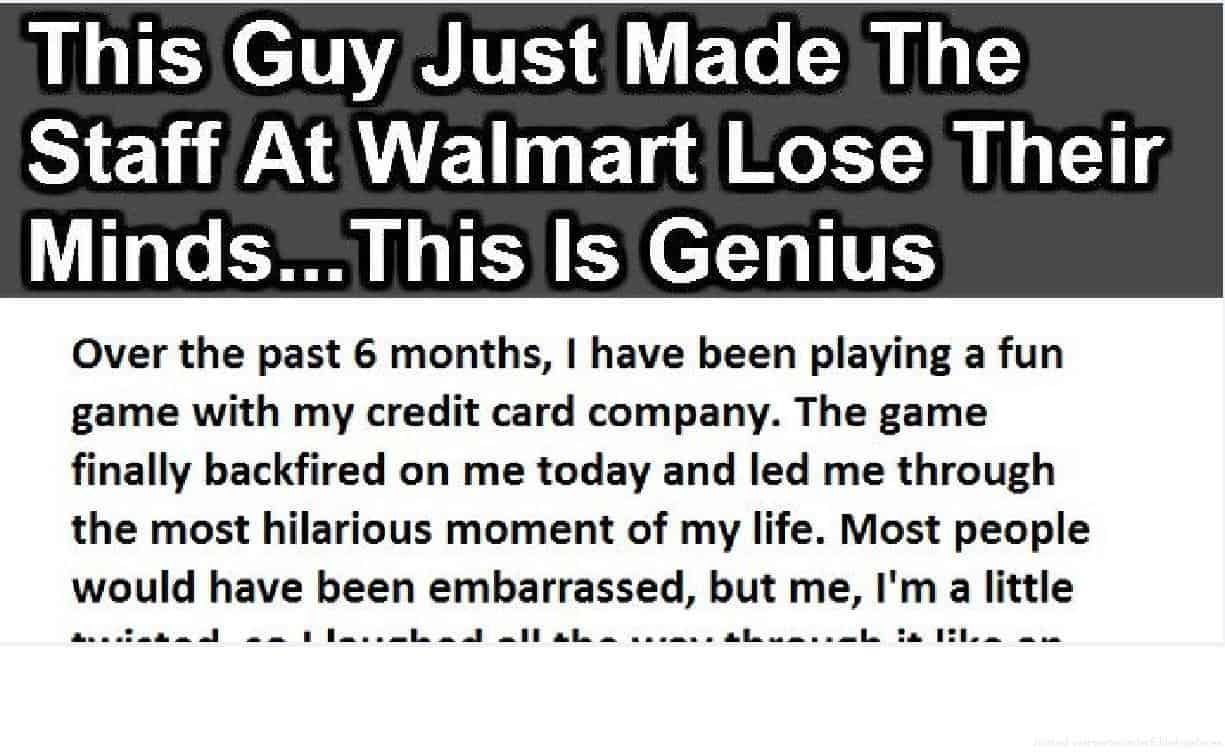 This Guy Just Made The Staff At Walmart Lose Their Minds