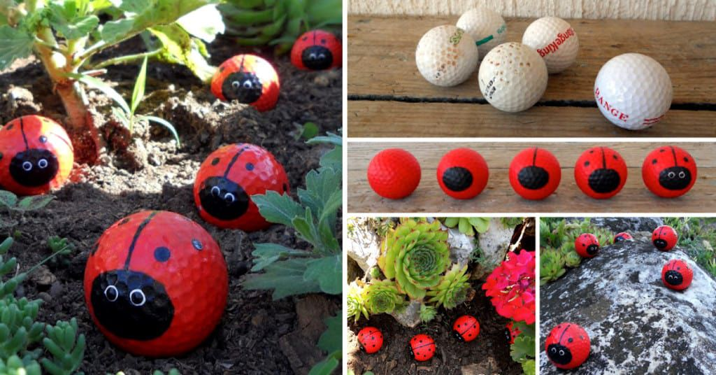 Fancy Up Your Garden Decor With These Easy To Make Golf Ball