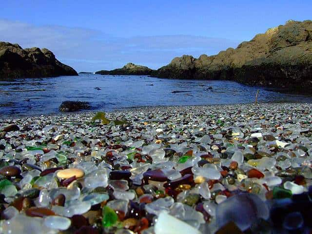 dbc1c92b6c Glass Beach' Is Filled With Smooth Sea Glass & Other Treasures ...