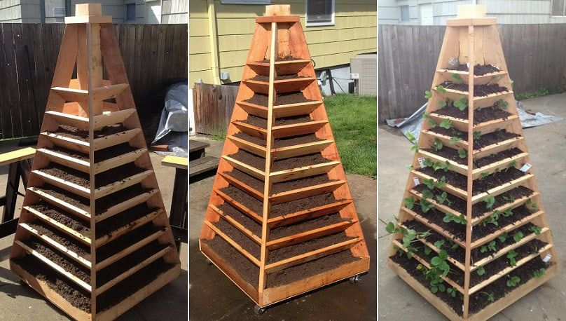 How To Build An Awesome Vertical Garden Pyramid Tower For Just 200 Awesomejelly