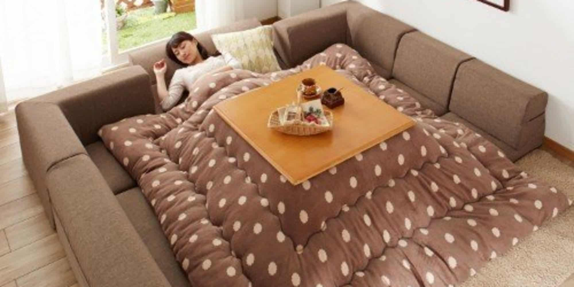These Cozy Anese Kotatsu Sofa Beds Provide Ultimate Relaxation Awesomejelly
