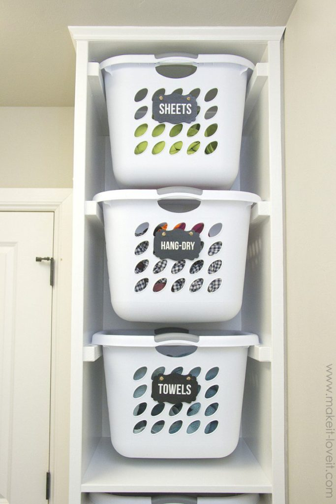 This Diy Laundry Basket Organizer Will Have Your Laundry