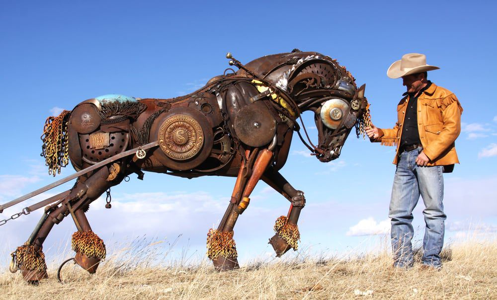 Artist Turns Old Farm Equipment Into Mind Blowing Animal Sculptures