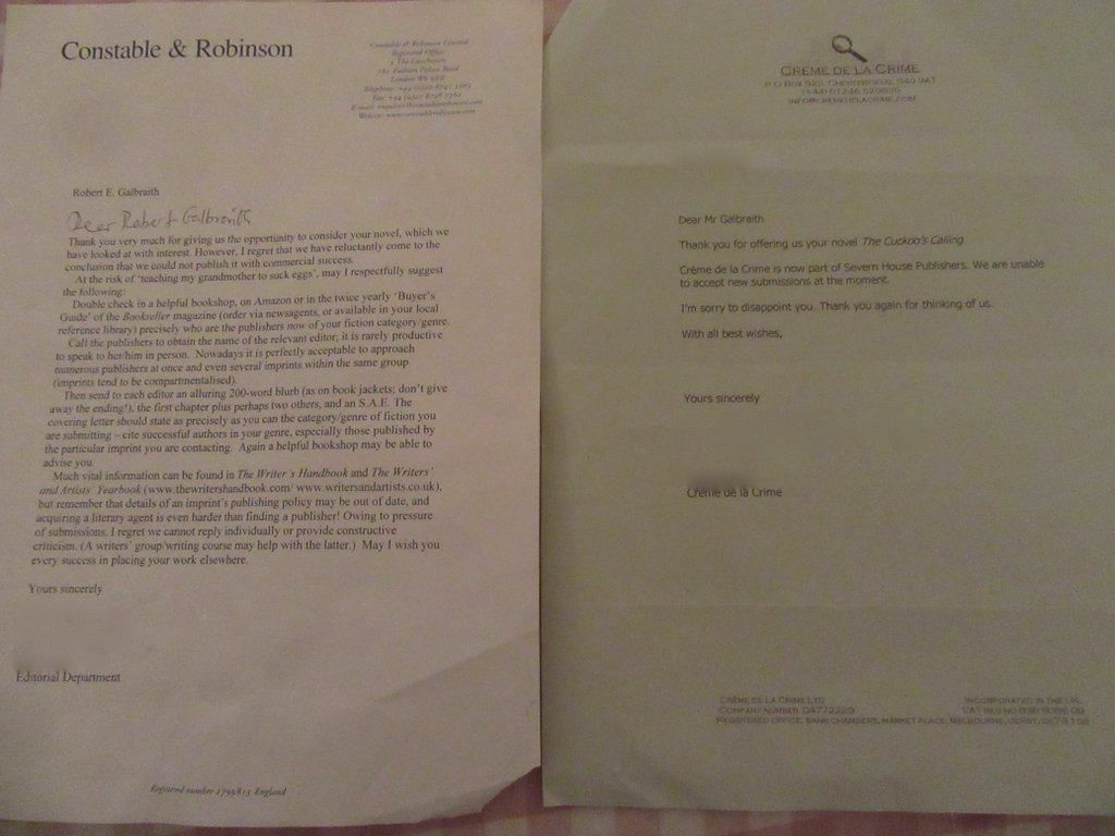 J K  Rowling Posted Her Rejection Letters To Inspire Writers