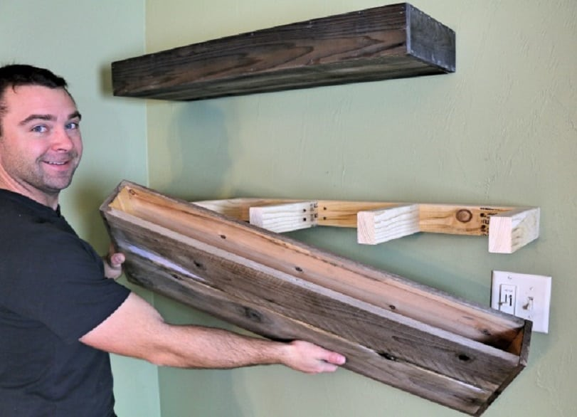 These good looking diy floating shelves are super easy and