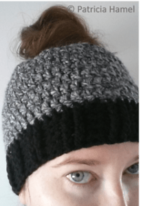 Patricia Hanel designed this awesome beginner ponytail hole hat. It s  available here. ccb80cebc19