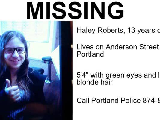 MISSING PERSON | Teenage Girl Reported Missing In Portland