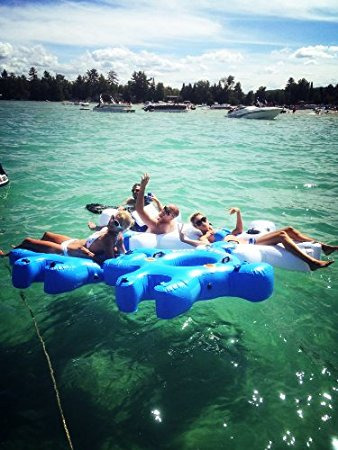 30 Puzzle Piece Shaped Interlocking Pool River Floats Are