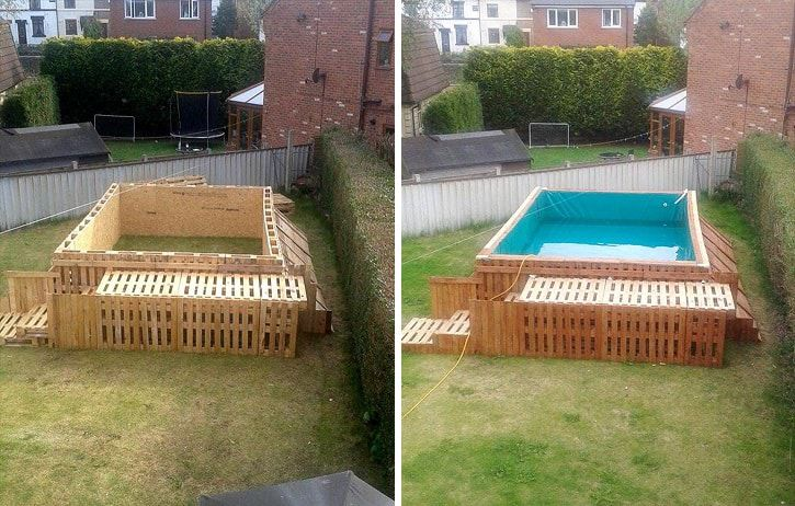 How To Build The Coolest Looking \'Pallet Swimming Pool\' Ever ...