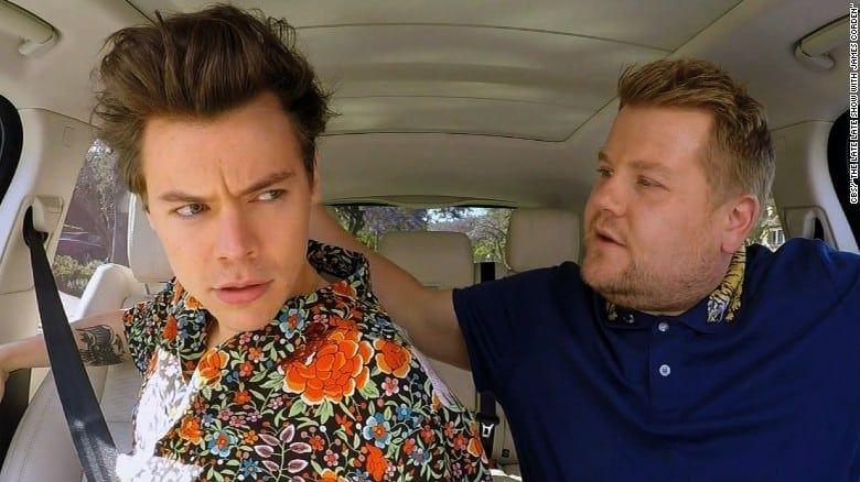 Harry Styles James Corden Get Emotional In The Latest Edition Of