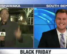 black friday reporter not happy