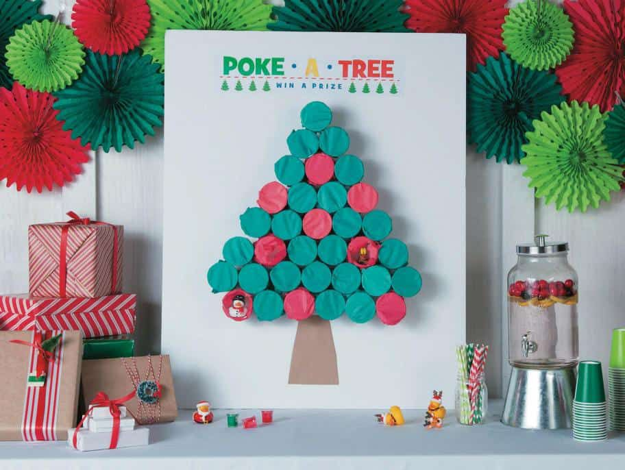 The 'Poke-A-Tree' Christmas Party Game
